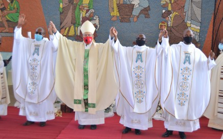 Newly Ordained Priests with Bishop Jan DeGroef